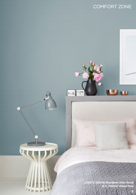 Valspar Colors Of The Year 2016 From The Comfort Zone Collection Woodlawn Silver Brook Lowes Or Home Decor Bedroom Bedroom Interior Bedroom Color Schemes