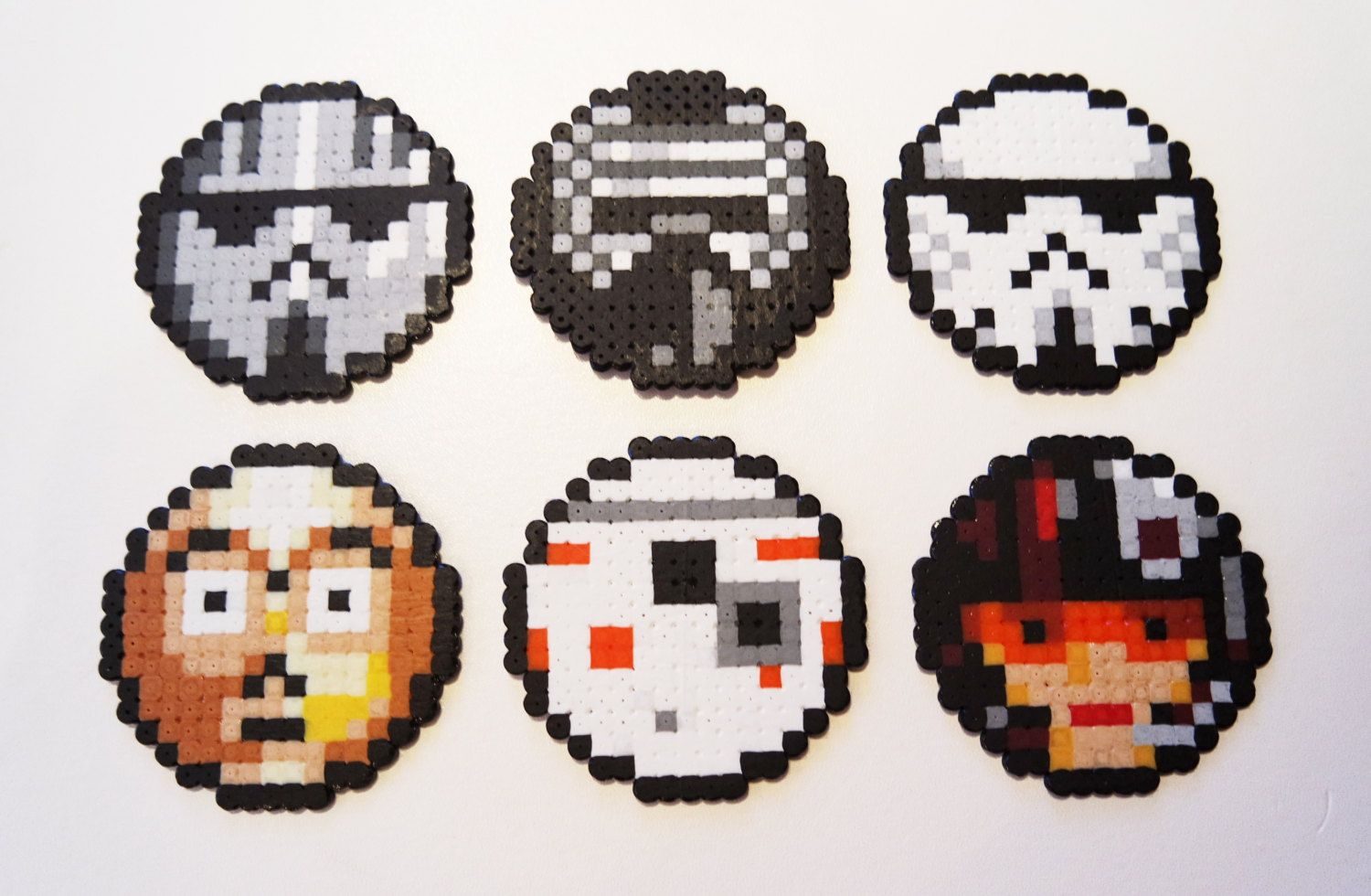 Star Wars: The Force Awakens coaster set hama beads by PixelWill