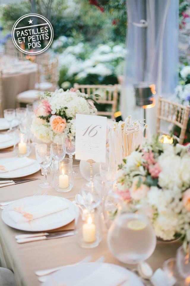Mariage sous le signe du naturel et du chic avec de belles nuances de p che - Table de mariage chic ...