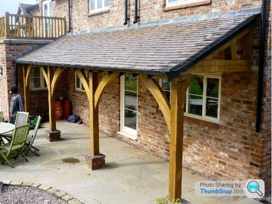 Wooden pergola covered lean to ideas page 1 homes for Shed roof covered porch