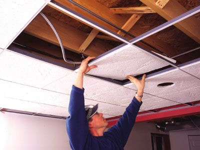Diy Acoustic Ceiling Tile Ceiling Installation Acoustic Ceiling