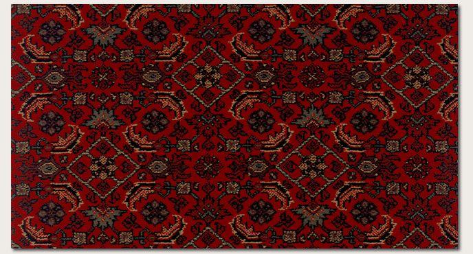 Oriental Patterned Carpet Gallery Bruco Crimson 100 Heat Set