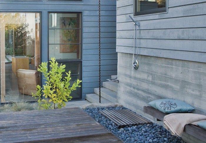 Hardscaping 101 Outdoor Showers Gardenista Teak Shower Floor Teak Shower Outdoor Shower