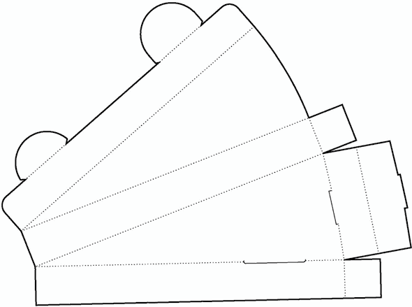 triangle box template no 04 free box templates store