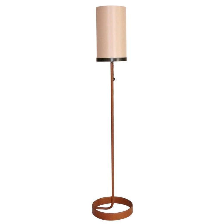 Atelier Iron And Leather Floor Lamp Floor Lamp Lamp Iron Floor Lamp