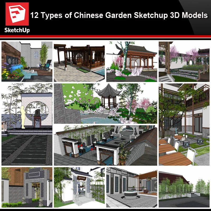 Sketchup Architecture 3d Projects 12 Types Of Chinese Garden