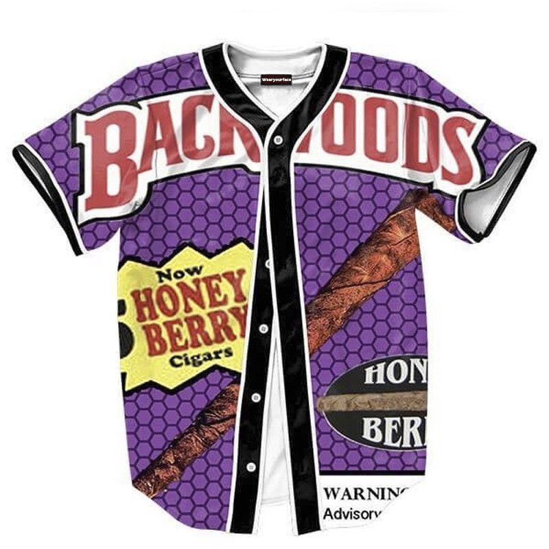e96ea83d79c Backwoods Honey Berry Blunts Jersey Shirt Men