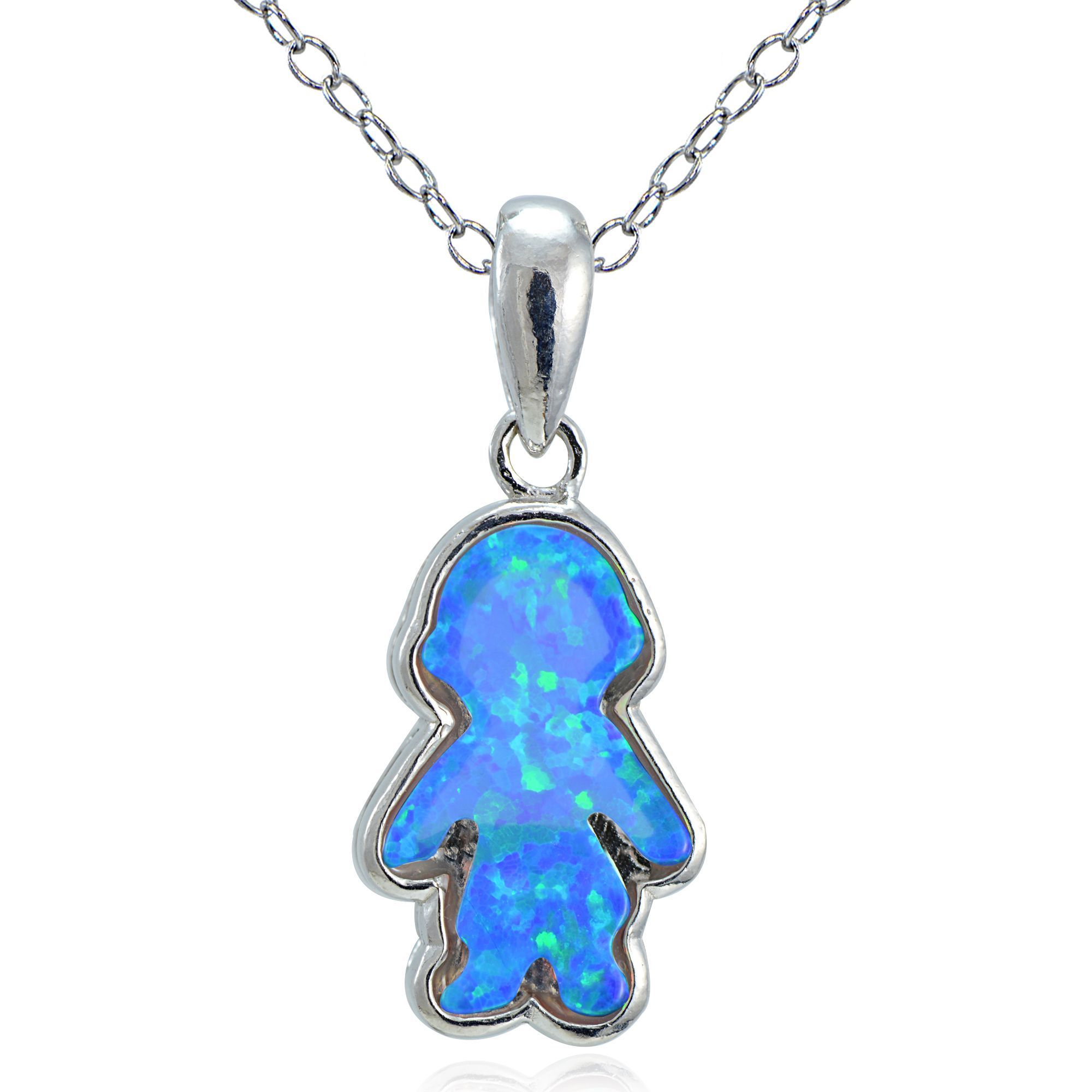 blue glitzy size sterling necklace created pin silver opal boy rocks