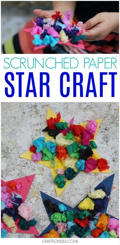 Scrunched Paper Star Craft