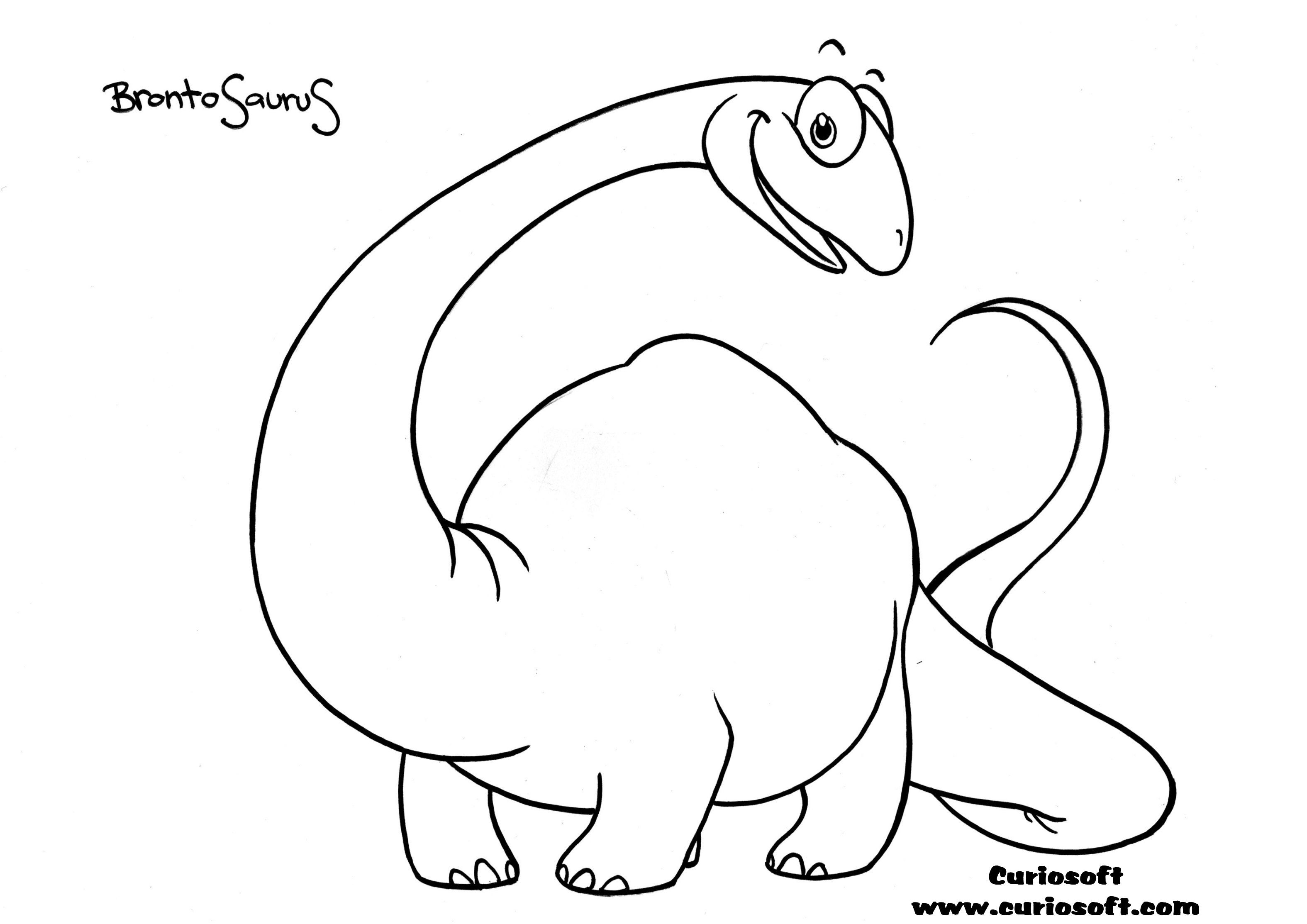 Dinosaur Coloring Pages Cute Illustrations Wit Names
