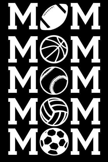 Personalized MOM Sports Team Vinyl Car Decal Sticker Football - Custom vinyl stickers no minimum