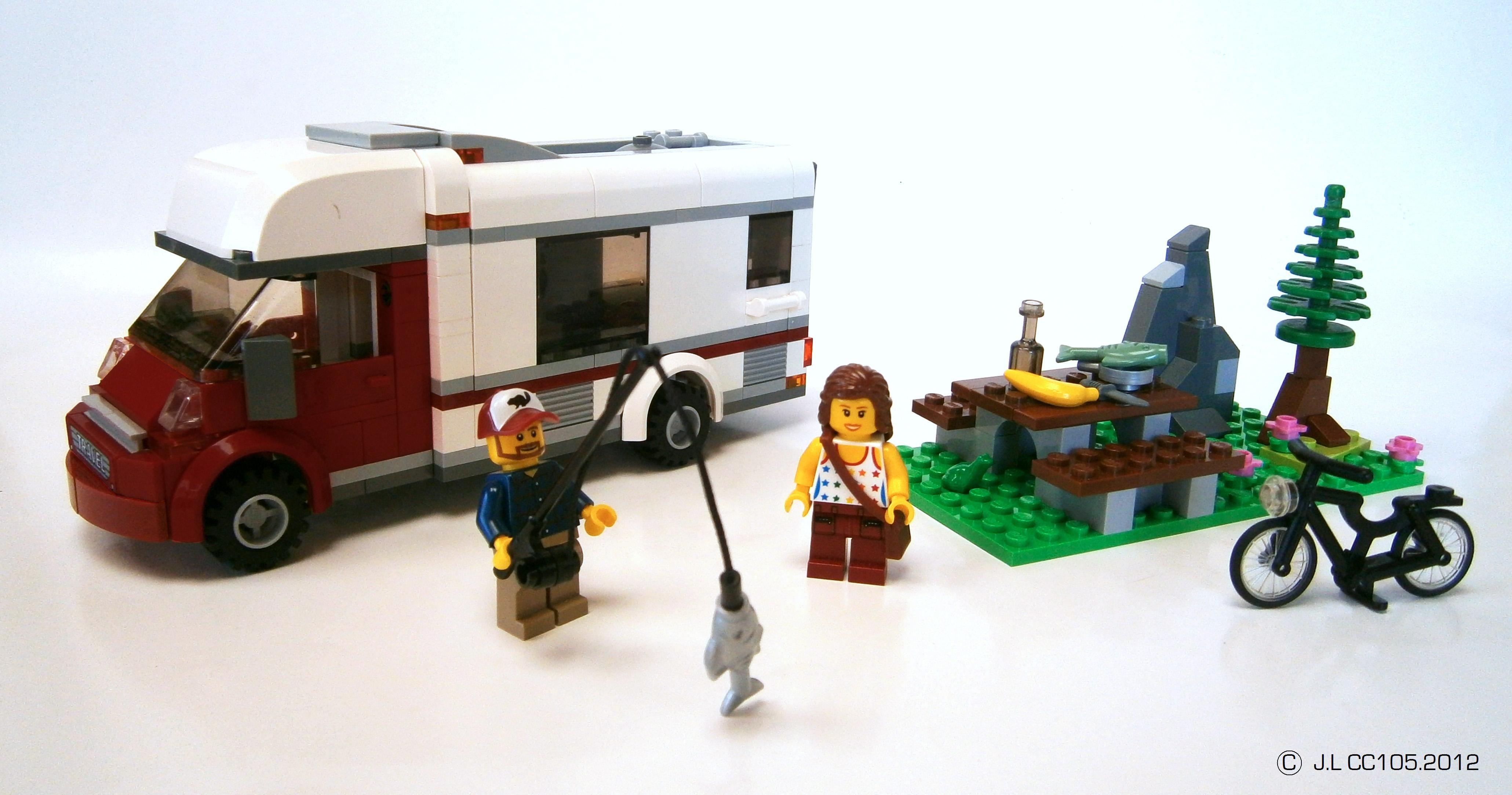 La Sortie En Campingcar  Lego Vehicles Custom