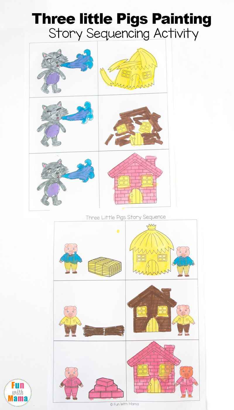 3 little pigs craft sequencing coloring pages pinterest pig crafts sequencing cards and. Black Bedroom Furniture Sets. Home Design Ideas