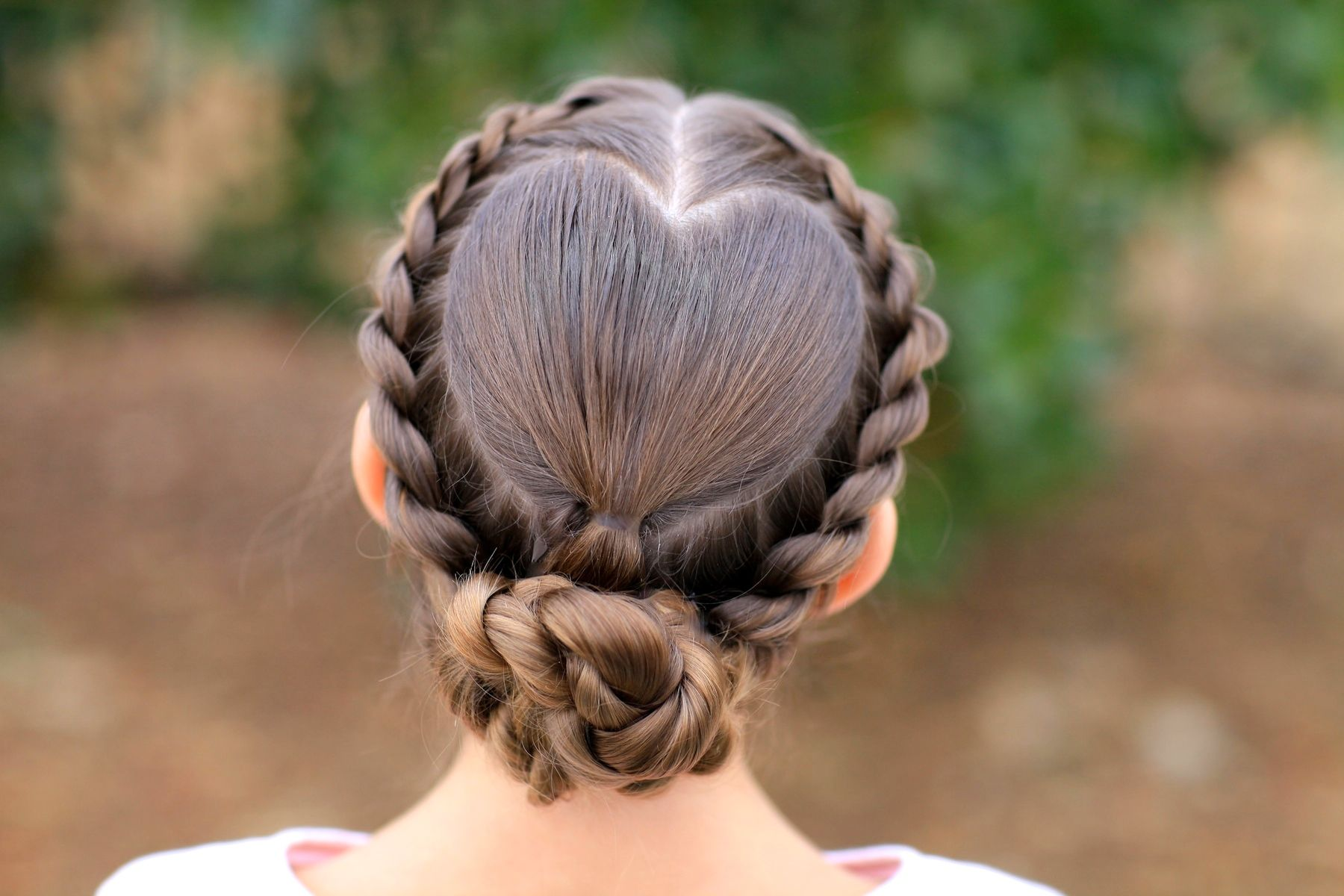 Rope twisted heart valentineus day hairstyles and more hairstyles