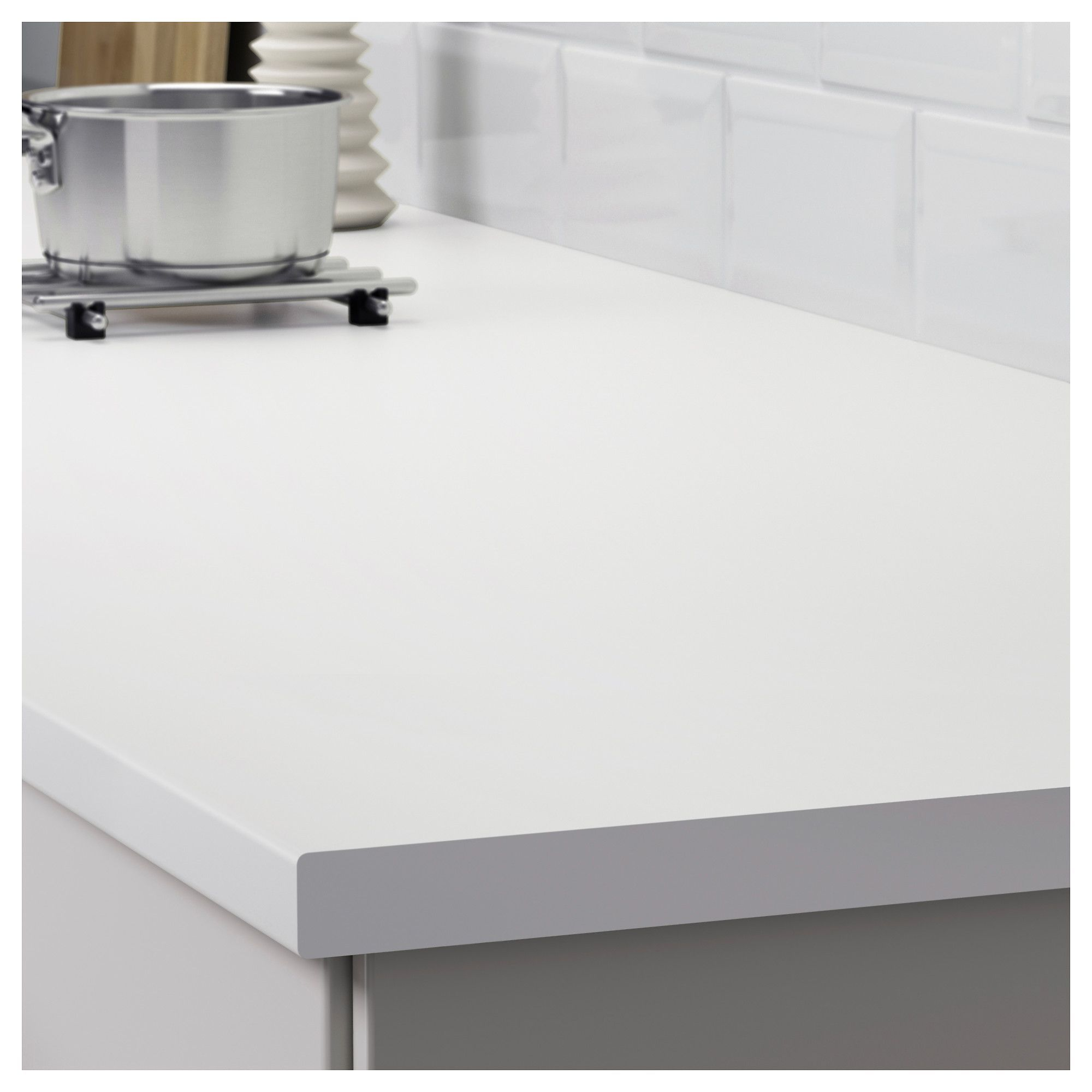 Countertops Ikea Lilltrask Countertop White Laminate Countertops Are Very Durable And With Images White Laminate Countertops Countertops Replacing Kitchen Countertops