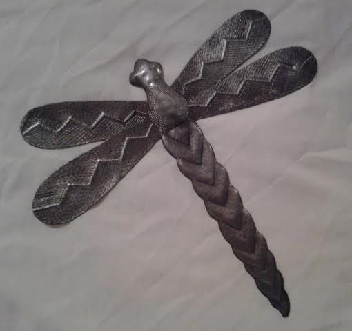 Haitian Metal Art-Large Dragonfly D | Garden Gallery Iron Works