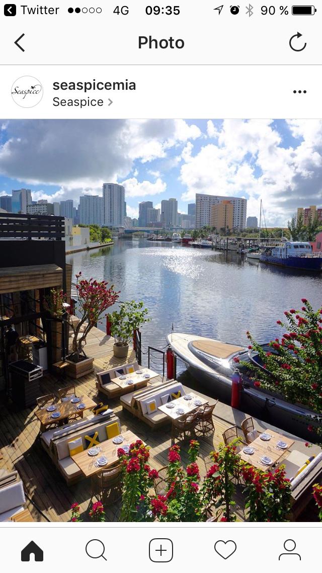 Seaspice waterfront restaurant miami in 2019 Miami