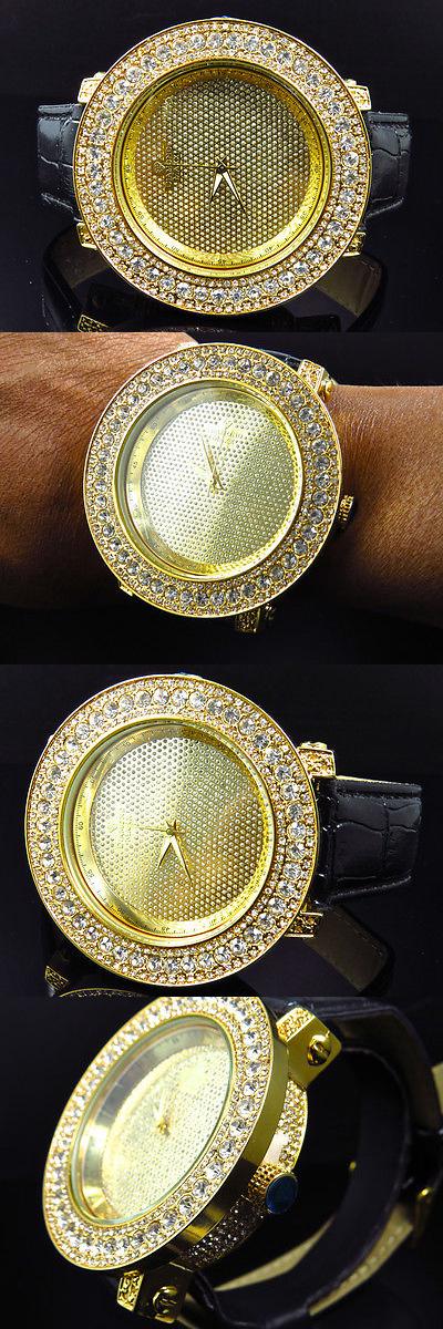 Other Mens Jewelry 177770: Mens Diamond Maxx/Joe/Rodeo/Jojino Fully Iced Large One Row Diamond Yellow Watch BUY IT NOW ONLY: $99.99