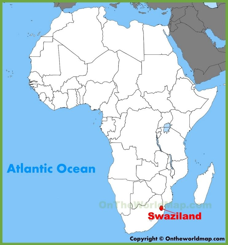 Swaziland Africa Map Swaziland location on the Africa map | Africa map, African map, Map
