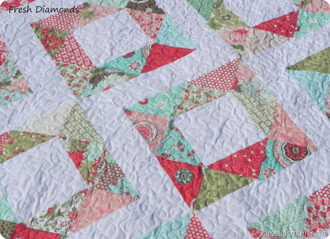Simple Quilts Templates Quilt Kit : Easy Quilt Patterns If you make a Fresh Diamonds Quilt , I d love to see it. Quilting ...