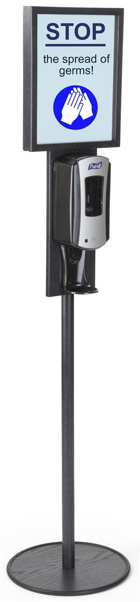 Hand Sanitizer Dispenser Holds 11 X 14 Sign Floor Standing