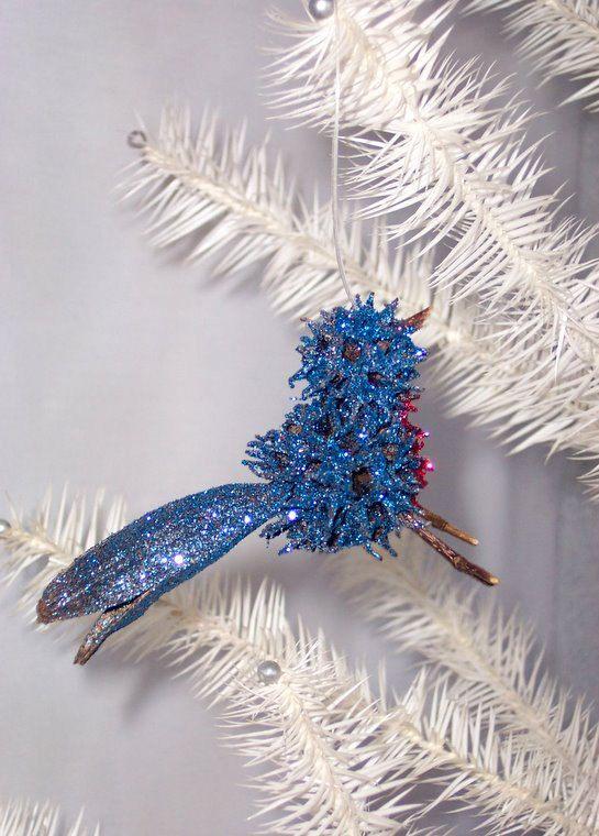 Christmas Bluebird Ornament Sweet Gum Natural 5 50 Via Etsy