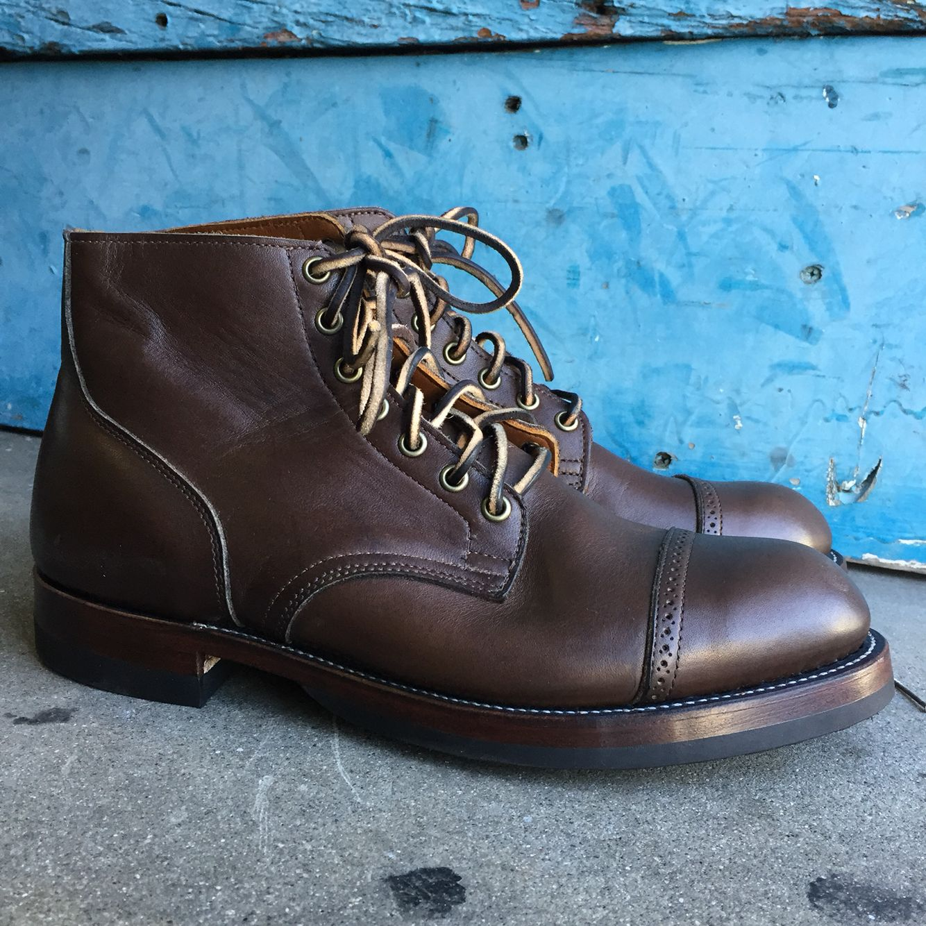 72fbffe2f9b5 Viberg Service boots. I relasted them on my 309 shoelast and converted them  to a handwelted construction. Everything was replaced except the upper.
