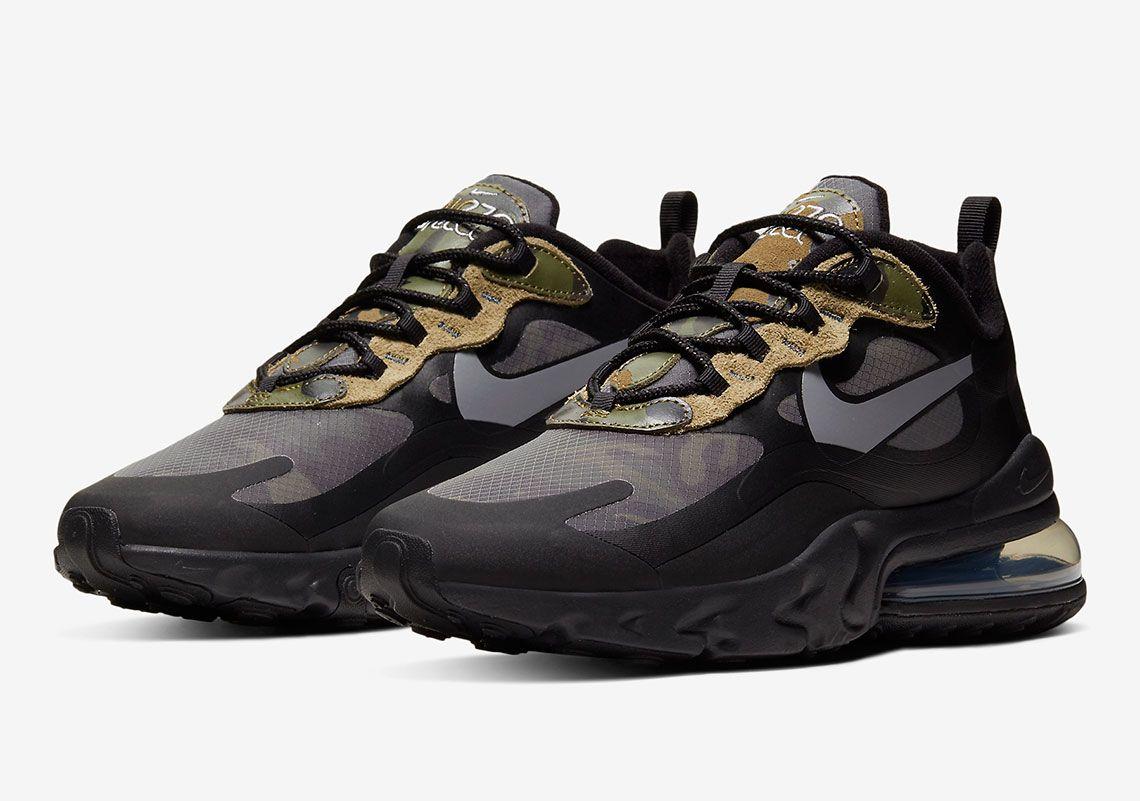 Nike Air Max 270 React Camo Ct5528 001 Sneakernews Com In 2020 Nike Air Max Air Max 270 Running Shoes Sneakers