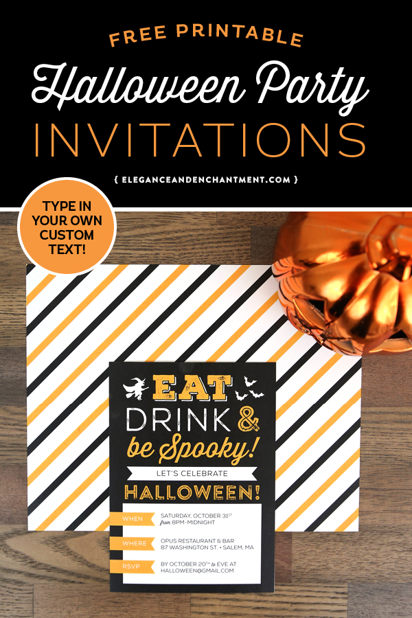 Planning a Halloween Party? Download these free printable ...