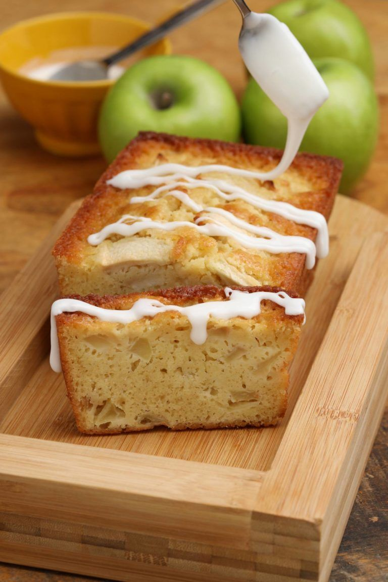 Frosted Buttermilk Apple Cake Loaf Recipe Apple Dessert Recipes Apple Desserts Easy Apple Recipes
