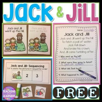 Jack and Jill (With images) | Jack and jill, Nursery ...