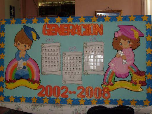 Periodico mural de graduacion de primaria buscar con for Decoracion 9 de julio primaria