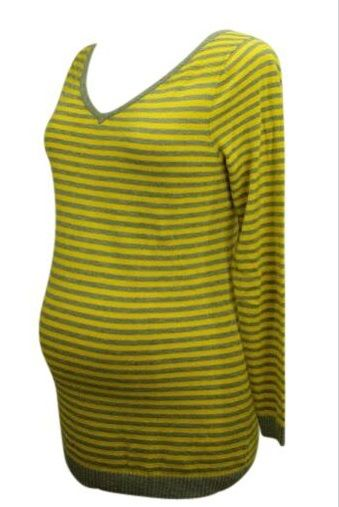 Yellow & Gray GAP Maternity Sweater (Gently Used -Large) - Motherhood Closet - Maternity Consignment