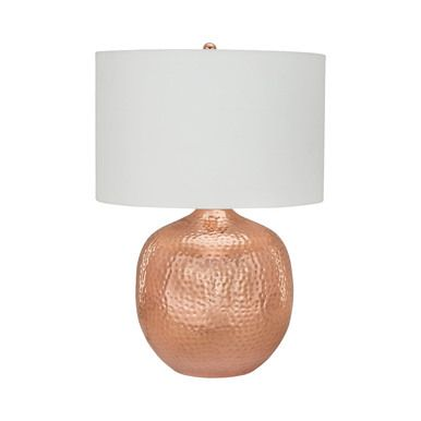 Dimond Lighting Praha 1 Light Table Lamp In Polished Copper