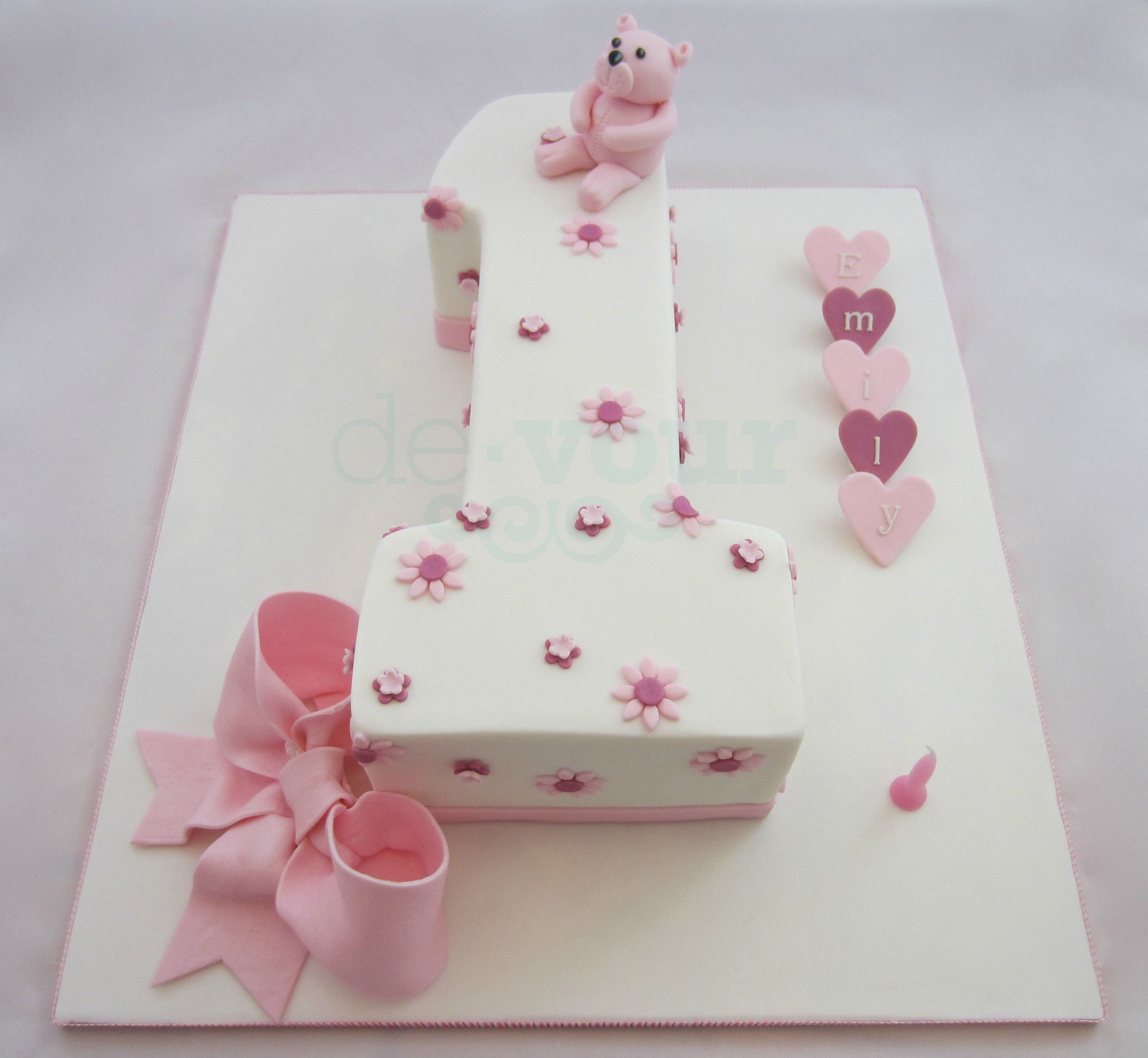 Cake Design On Pinterest : Number 1 cake, first birthday cake, number one cake, girl ...