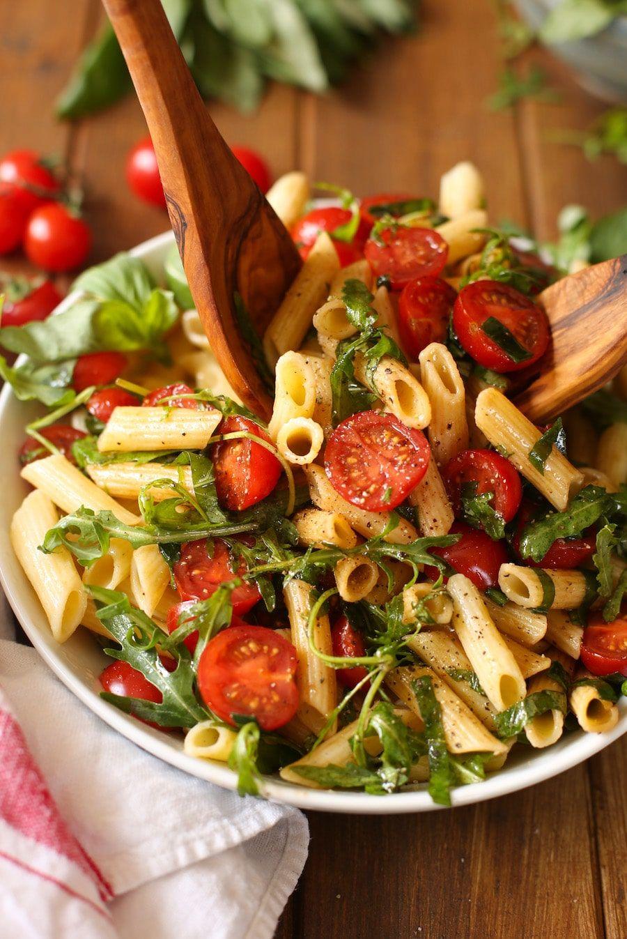 Tomato & Arugula Balsamic Pasta Salad A Saucy Kitchen