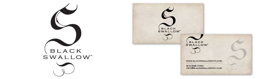 black swallow logo identity place card holders swallow card holder pinterest