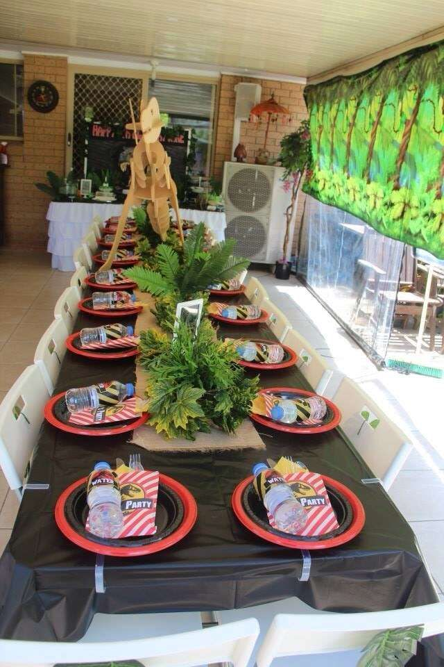 Jurassic Park Birthday Party Ideas Photo 1 Of 14 Catch