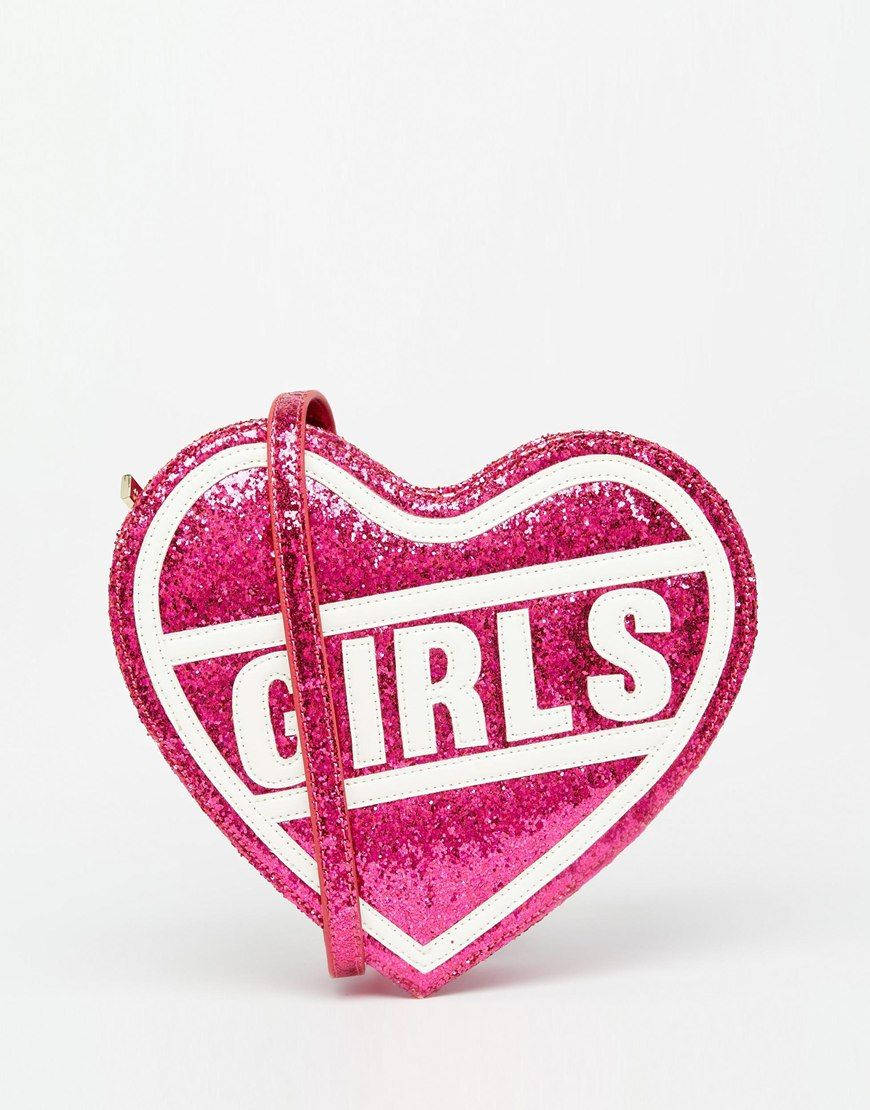 Skinnydip+Pink+'Girls'+Heart+Across+Body+Bag
