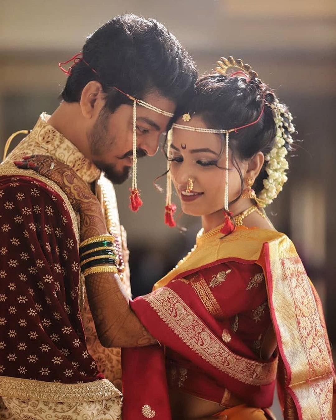 Maharashtrian Wedding Use Hashtag Maha Indian Wedding Photography Poses Indian Wedding Photography Couples Wedding Couple Poses Photography