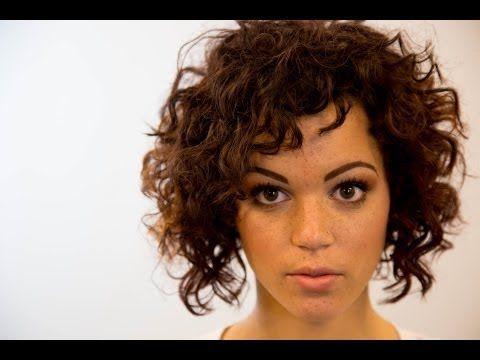 Short Wavy Hair Cut YouTube C U R L Y C U R L S Pinterest - Youtube short curly hair