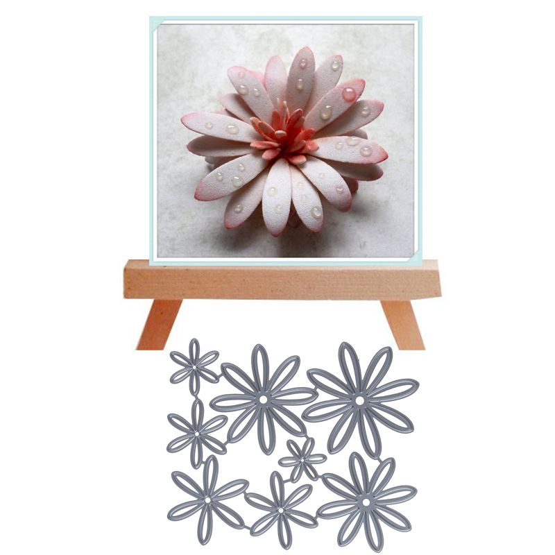 Flower Box DIY Scrapbooking Album Stamp Paper Card Embossing Decor Craft Metal Cutting Dies Stencil
