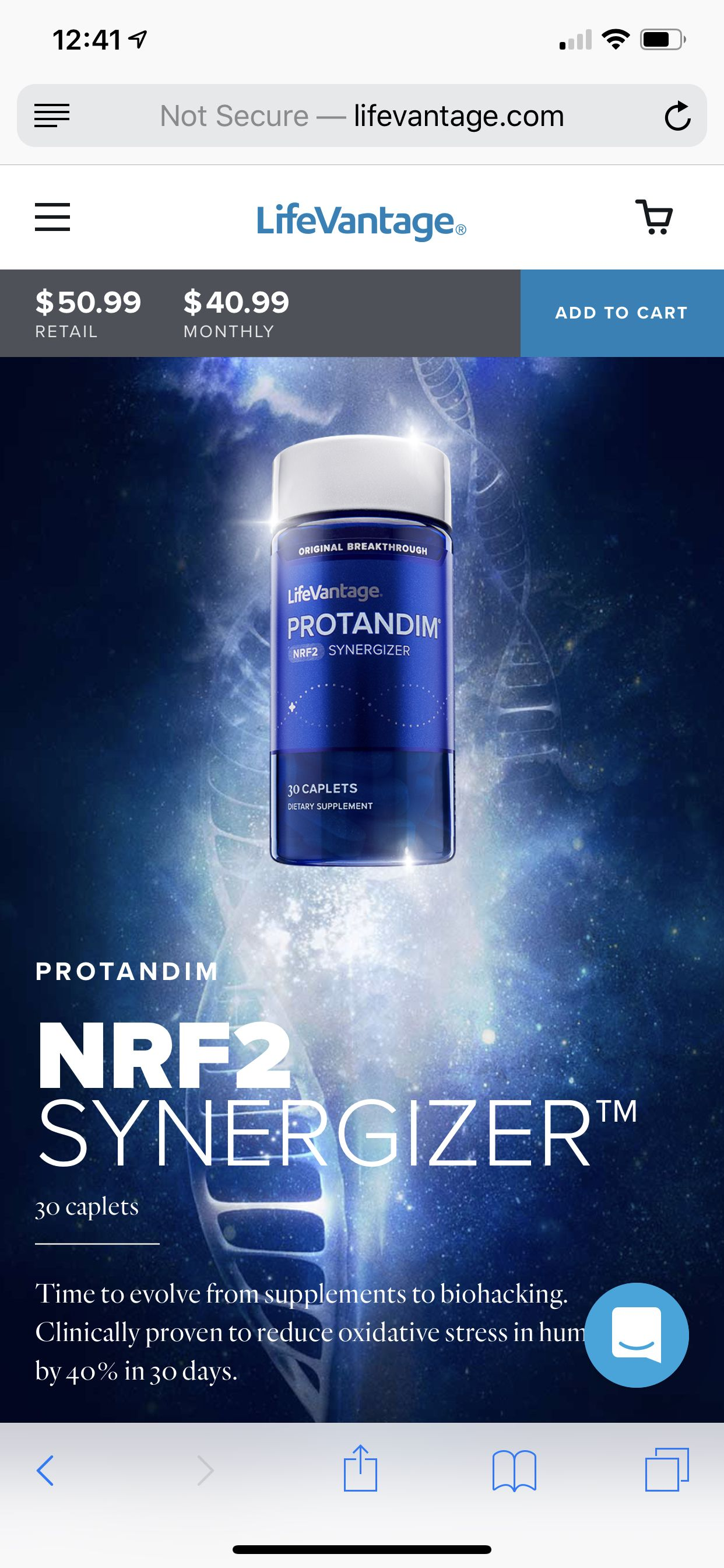 NRF2 is is supposed to help with oxidative stress