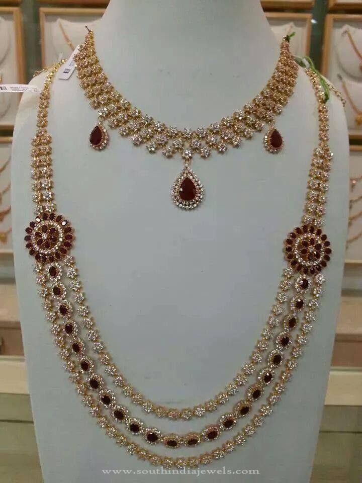 Bridal Cz Stone Necklace Set Jewellery Pinterest Jewelry