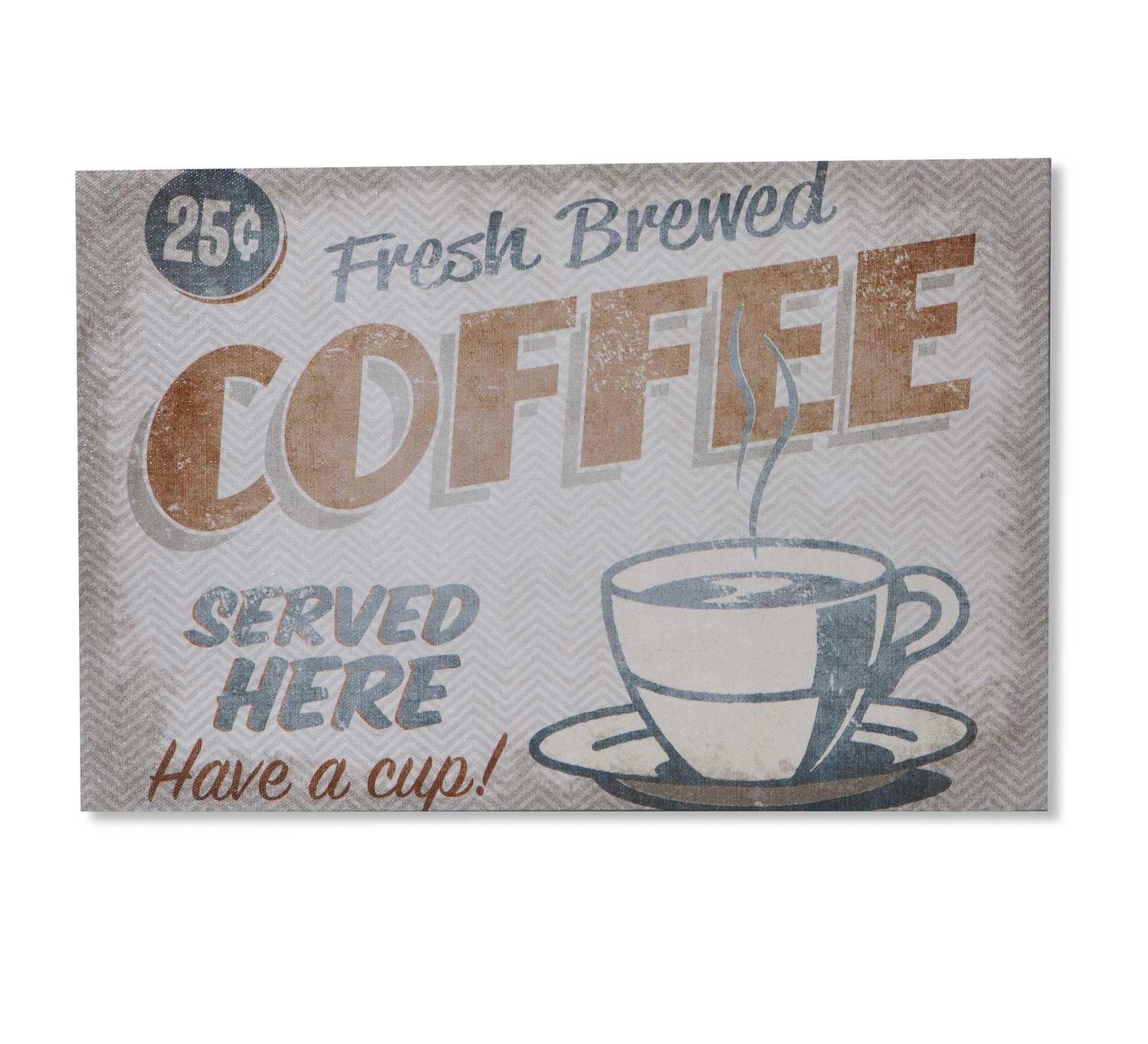QUADRO RETRO COFFEE LONA 20X30CM | Etna
