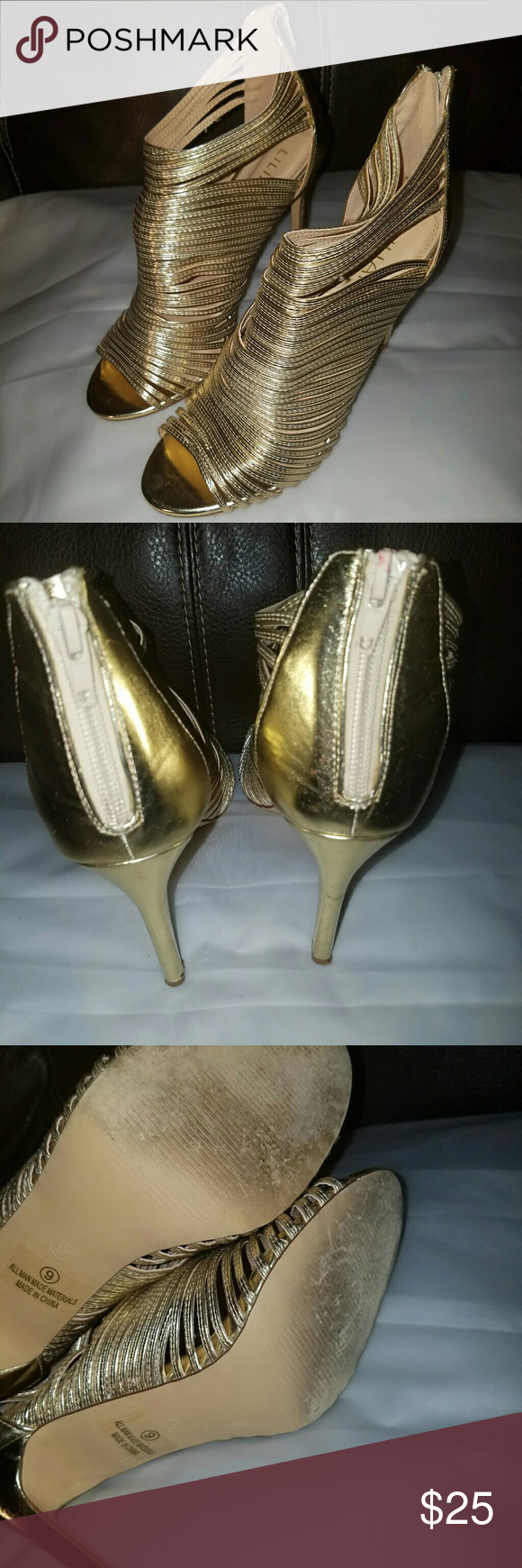 Liliana heels Womens liliana heels with zipper back good condition used No Box as is Liliana Shoes Heels