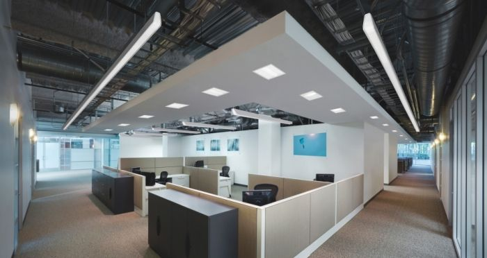 Ref Image Exposed Ceiling With Dropped Lighting Canopy To Create A Sense Of Scale Height Without Feeling Oppressed Designate Different Areas
