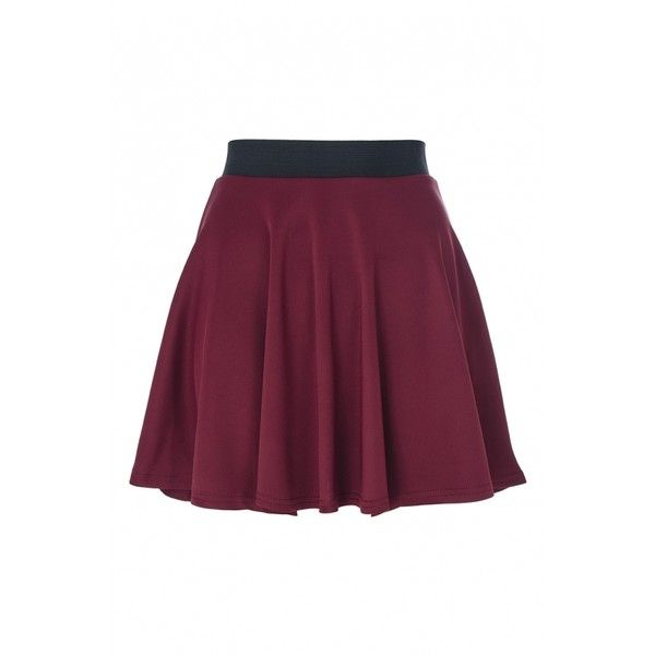 Wine Skater Skirt (22 AUD) ❤ liked on Polyvore featuring skirts, flared skirts, skater skirt, circle skirt, purple skater skirt and purple skirt