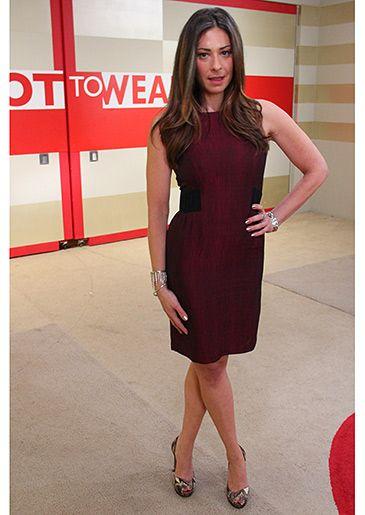 Maroon Dress From Rolando Santana Stacy London