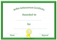 Ballet Certificate  Dance    Certificate Templates And